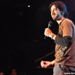 Javier Medina shows stand up comedy