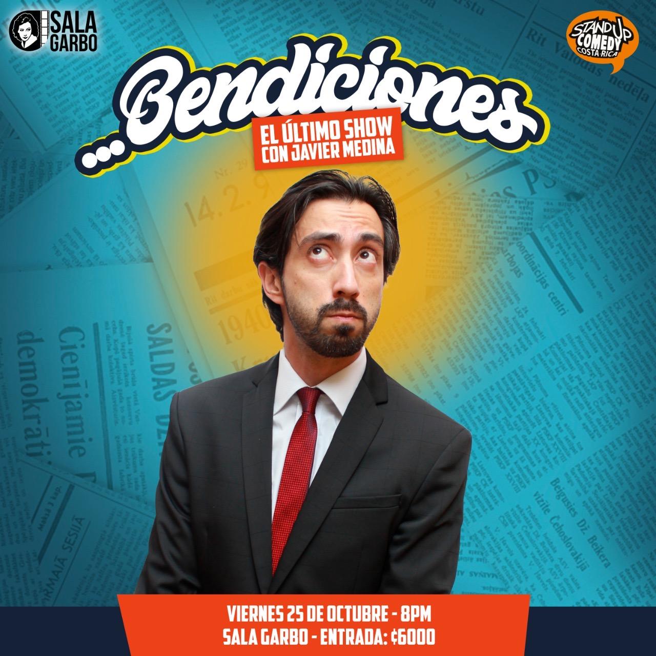 Bendiciones. Comedia con Javier Medina en la Sala Garbo