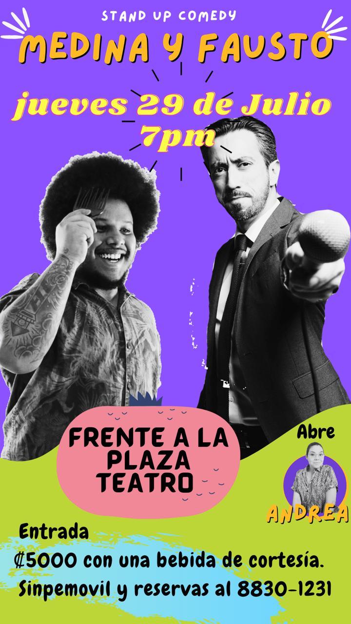 Javier Medina Stand up Comedy en Vivo Teatro Frente a la Plaza